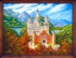 Вышивка замка Нойшванштайн - Риолис 12